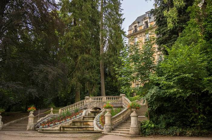 The gardens at Club Med Vittel Le Parc in France