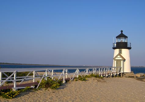 Explore! French Canada, Eastern Seaboard and Cape Cod - Walkway leads to Brant Point lighthouse, a famous beacon on Nantucket Island in Massachusetts